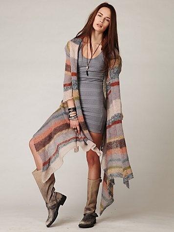 ruha hosszú kardigánnal