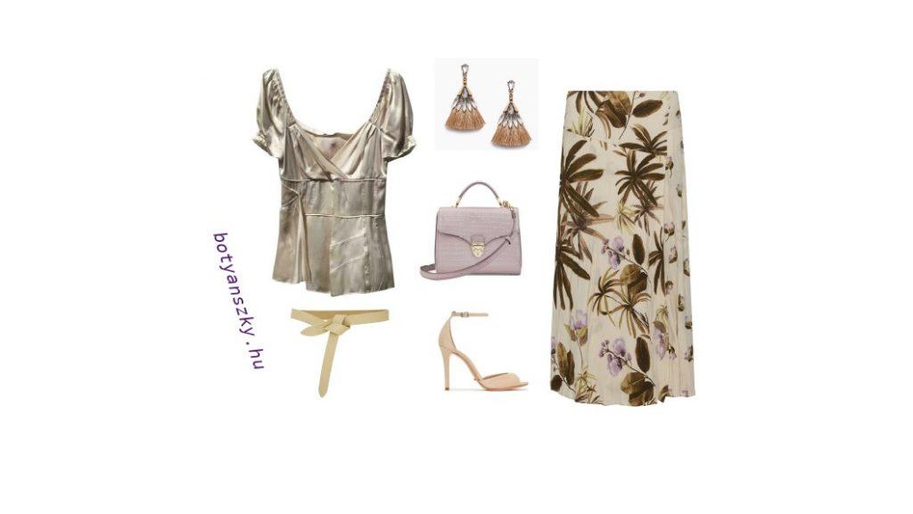 nyári szoknyás outfit